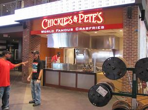 Chickie's & Pete's stand at Citizens Bank Park.