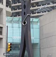 The Clothespin outside Centre Square.