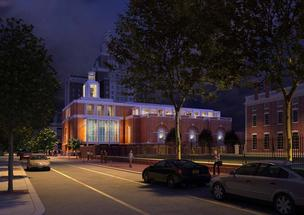 A rendering of the Museum of the American Revolution.
