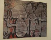 More framed graffiti from the building.