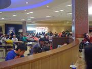 The food court was bound to get crowded, and it did.
