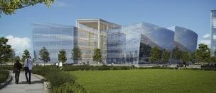 Rendering of the new complex GlaxoSmithKline is building at the Navy Yard in Philadelphia.