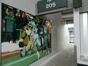 The entrance ways to seats in the upper bowl are now decorated with photographs of great moments from the team's past, such as Wilbert Montgomery's 42-year-old touchdown run against the Dallas Cowboys in the 1981 NFC CHampionship game.