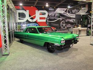 Someone commented that lime green is the new black, as this 1960s Cadillac and others may demonstrate.
