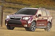 The new Forester, seen here, also bears a very strong resemblance to the current Outback model.