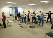 Fox Rothschild — The Philadelphia office of Fox Rothschild offers a weekly Yoga@Work program that incorporates gentle standing and sitting poses with a focus on stretching and breathing to relieve stress.