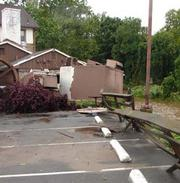 Another view of damage at the Old Mill Inn.