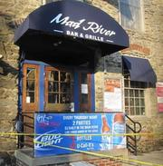 The Mad River Bar and Grille in Manayunk after the floodwaters receded.