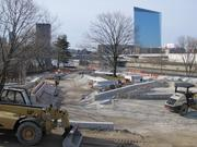 A view of construction work at the Paine's Park skateboard park taken last month. The park will open May 23.