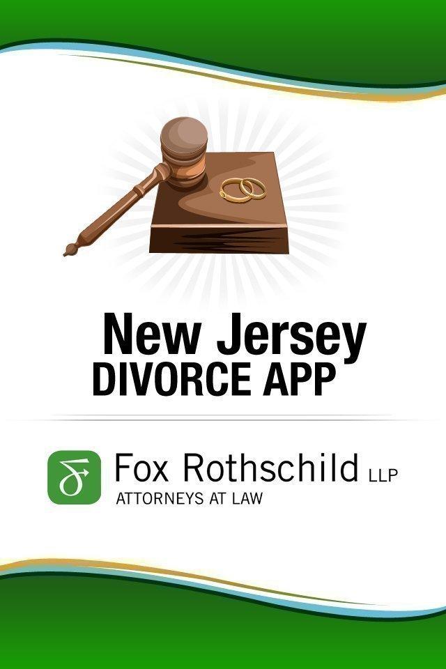 A screen shot of Fox Rothschild's New Jersey divorce app