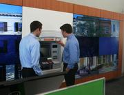 The new branch also features video walls and `Smart' ATMs