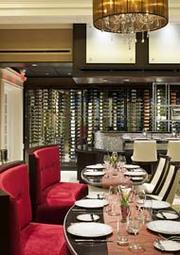 Paramour restaurant's wine wall in the Wayne Hotel
