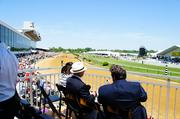 Members of Ninety North at the 2012 Preakness, taking in day at the races at Pimlico Race Course in Baltimore.