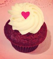 The red velvet cupcake at Sweet Box Shop, which opens May 11 at 339 S. 13th St. in Philadelphia.
