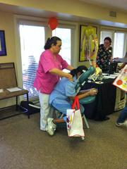 The Renfrew Center — A Renfrew Center employee enjoys a relaxing massage at the company's health fair.