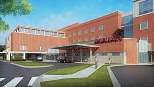 A rendering of Riddle's emergency department project.