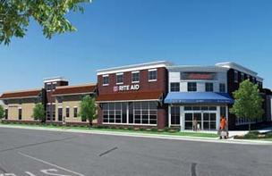 An artist's depiction of the new Rite-Aid planned for Wayne, Pa.