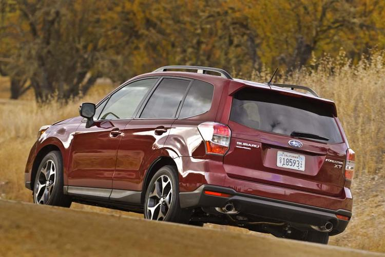 The new Forester has a more muscular look than the old style.
