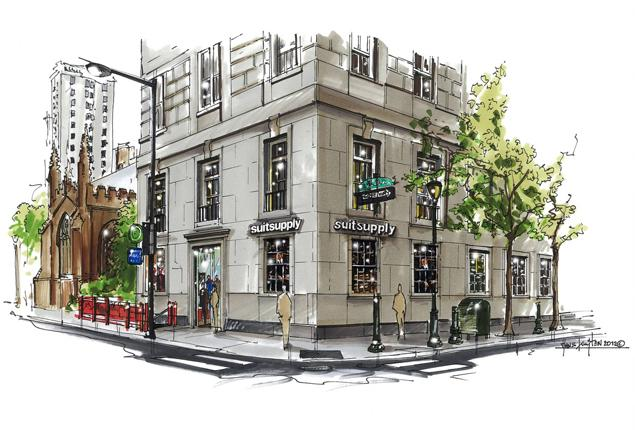 Suitsupply has 44 stores, and now five in the U S