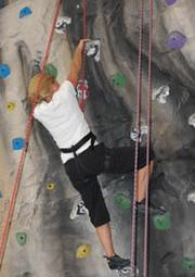 Weston Solutions Inc. — An employee puts a fun twist on staying fit with rock climbing.