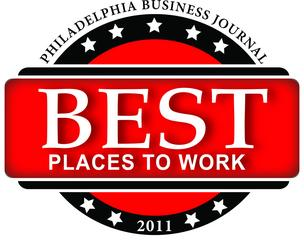 Philadelphia Business Journal Best Places to Work contest 2011 logo