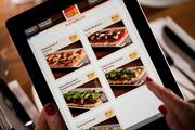 The iPad menu at Carmel Cafe & Wine Bar, which will open in Wayne, Pa., on Sept. 9.