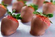 Chocolate-dipped strawberries: $40 a dozen