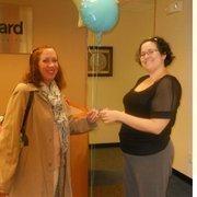 Carolyn Tsoukaras (left) and Mary Welby helped ParenteBeard aid Hurricane Sandy victims.