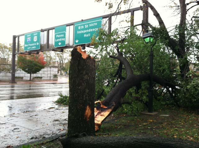 A photo of the destruction caused by Hurricane Sandy in the Philadelphia region, courtesy of our sister paper, the Philadelphia Business Journal.