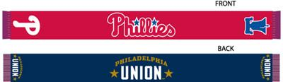 Co-branded scarf promotes both the Union and Phillies