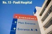 Paoli, Pa. 5 high-performing specialties: gastroenterology; geriatrics; nephrology; orthopedics; urology. Last year's rank: No. 12 (tie).