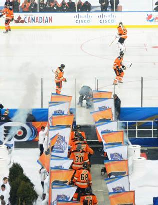The Flyers hosted last year's Winter Classic. This year's edition was cancelled because of the lockout.