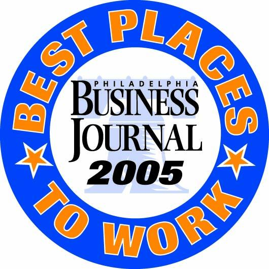 Best Places to Work emblem from 2005.