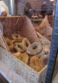 Bagels ready to be consumed at Spread Bagelry.