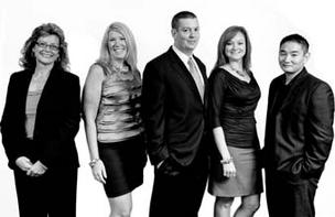 Anexinet employees, from left: Lisa Hostetler, Beth Gloviak, Kevin Bucher, Marybeth Profrock and Rob Kim.
