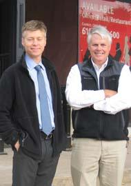 Brad Palmer (left) of Cross Street Partners and Bill Connor of Atwood Management and Remington Group joined forces to buy and renovate 134 N. Wayne Ave.
