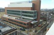 Going up: The Cooper Medical School of Rowan University in Camden nears completion.