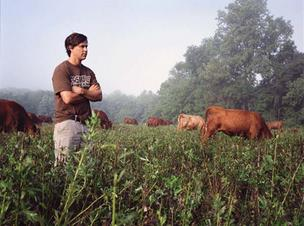 Dean Carlson oversees the cattle on Wyebrook Farm