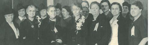 Members of the Village Improvement Association at the 1939 hospital dedication.