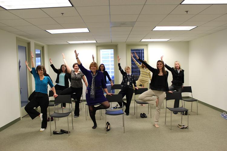 Fox Rothschild's Chair Yoga program combines sitting and standing poses, breathing exercises and meditation, and is designed for yoga newbies and experts alike.