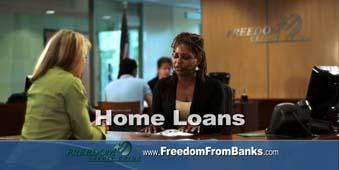 A still from a Freedom Credit Union commercial.