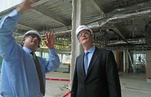 John Gattuso of LPT, Christian Bigsby of GSK inspect the interior.