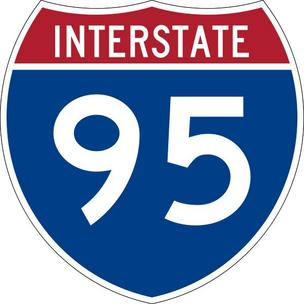 Interstate-95 sign.