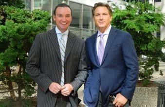 Matt Frederick (left) and Steve Perna of PernaFrederick Commercial Real Estate.