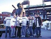 IMC Construction volunteers get ready for the Philadelphia Heart Walk.