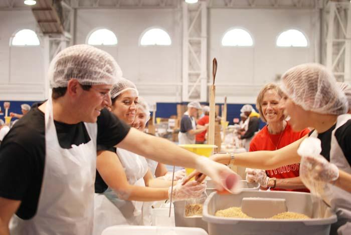 Tierney employees pitch in for the Salvation Army of Greater Philadelphia's Million Meals for Haiti event.