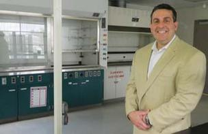Christopher R. DiPaolo in one of the center's laboratories.
