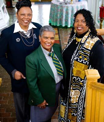 From left: Debbera Peoples-Lee, Naomi Booker and Christine Wiggins.