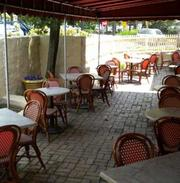 The new patio at Georges' on the Main Line.