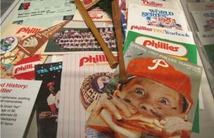 The Philadelphia History Museum opens Sept. 22 and features a display of Phillies stuff.